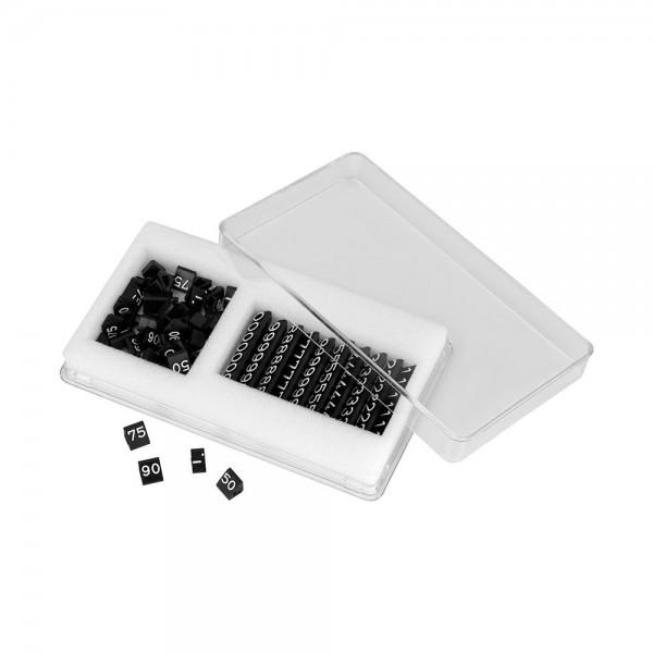 Preisschildkassette Midi-Ziffern weiß/grau