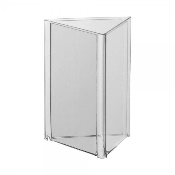 Acryl-Dreieck-Ständer Lang DIN, DIN A6, DIN A5