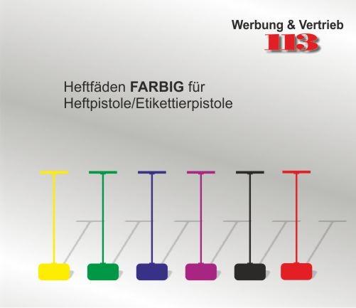 Heftfaden 40 mm farbig günstige VE