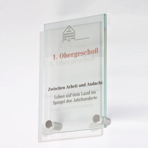 Glasschild 100x 160 mm