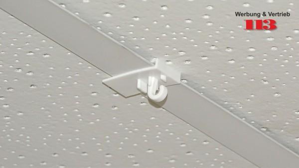 Decken-Clip 20 x 30mm für Odenwalddecke/Rasterdecke