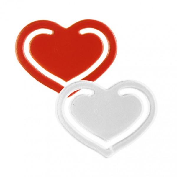 Herzklammer inkl. 1-farbigen Aufdruck