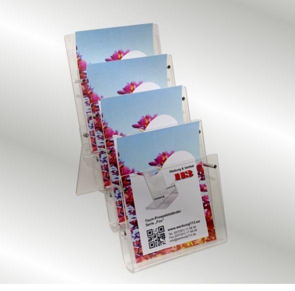 4-fach Prospektständer Fox4 DIN A5 Hochformat