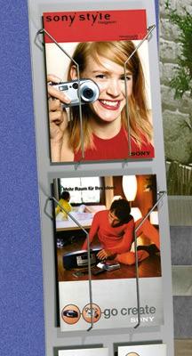 Info-Ständer TechnyI + II+ Infosäule Tec-Art Drahtkasten DIN A4