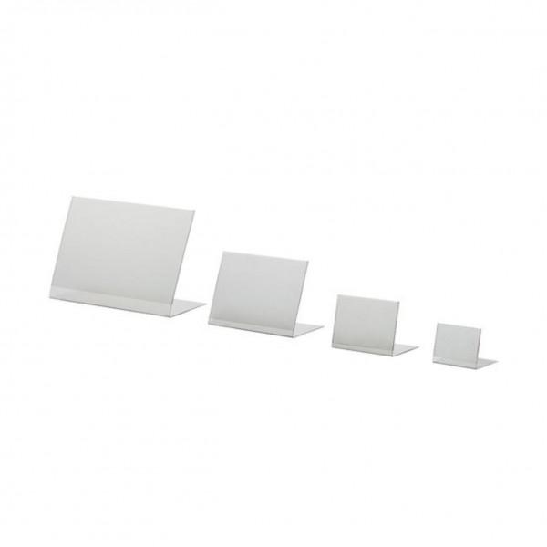 PVC L-Ständer DIN A9, DIN A8,DIN A7,DIN A6