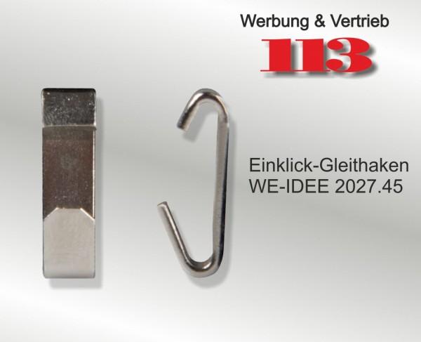 Galerieschiene Einklick-Gleithaken