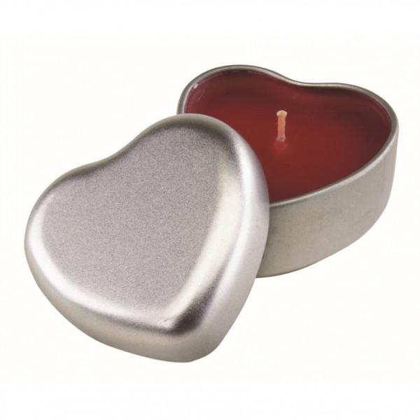 Herzdose mit Kerze mit/ohne Gravur