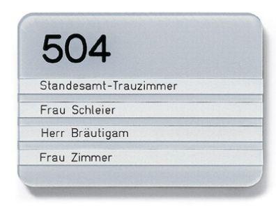 Türschild B 155 x 70 mm runde Ecken