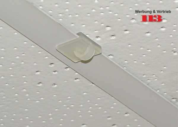 Deckenclip 19x19 mm für Odenwalddecke/Rasterdecke